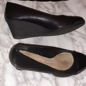 Wedge Black Heels
